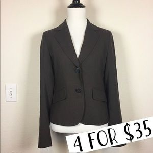 J. Crew brown wool blazer size 4